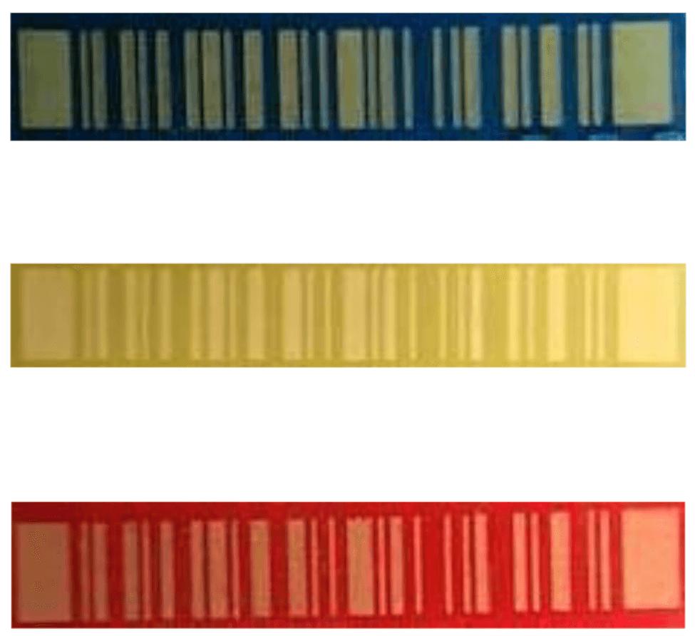 Three barcodes