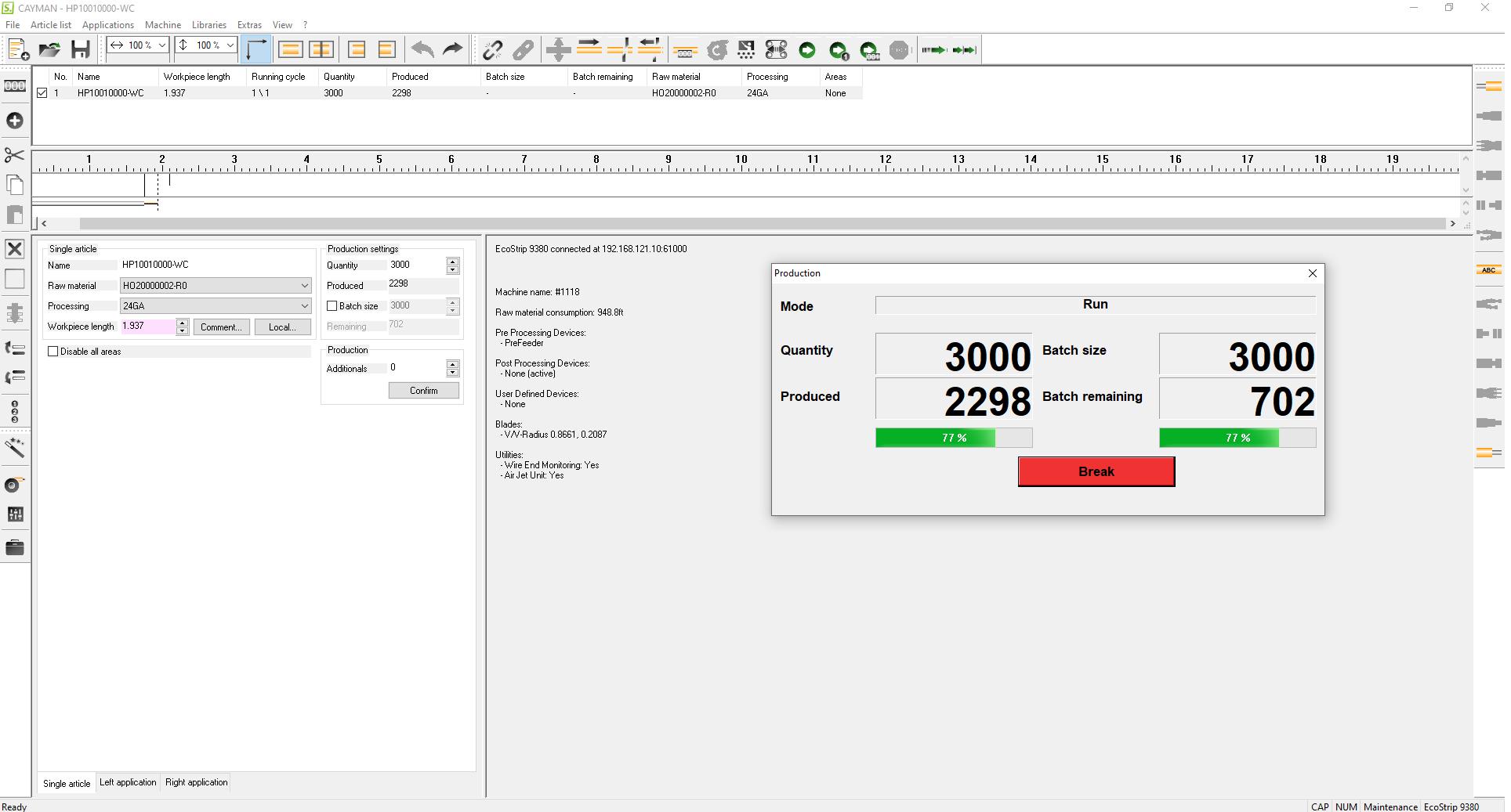 Wire software screenshot